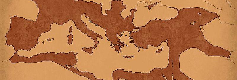 Mapa Imperium Rzymskiego z 117 roku n.e.