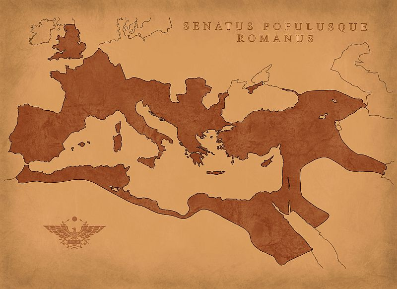 Map of Roman Empire from 117 CE