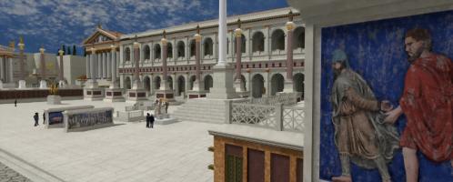 Bazylika Maksencjusza w Rome Reborn