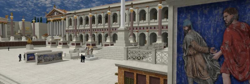 Basilica of Maxentius in Rome Reborn