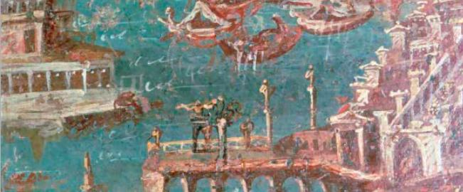 Fresk ukazujący port w Stabiae