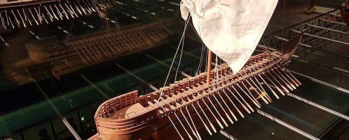 Model statku pentekontera