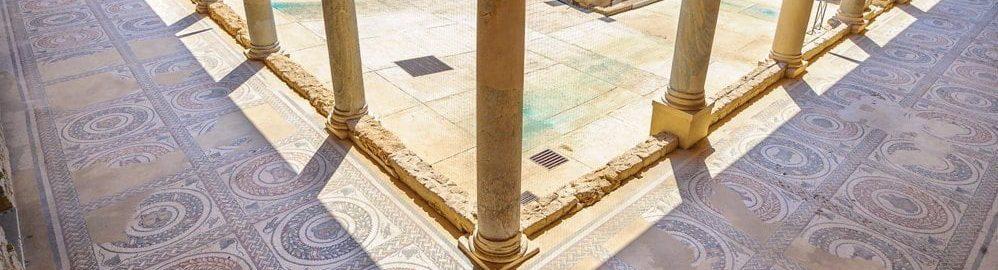 Perystyl w Villa Romana del Casale