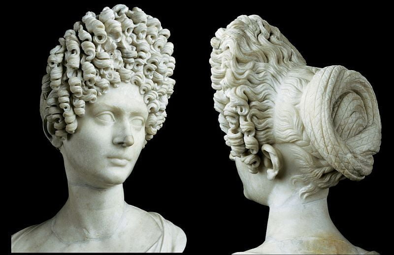 Roman bust from the times of the Flavian dynasty
