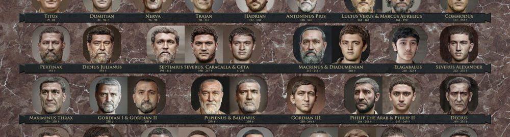 Realistic reconstructions of Roman emperors