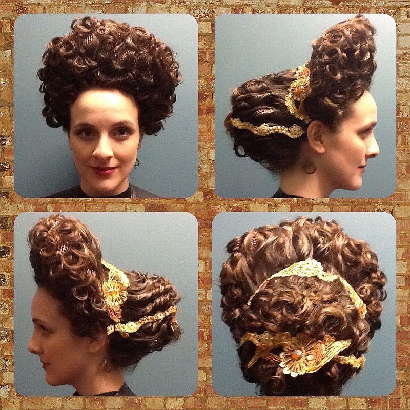 Rekonstrukcja fryzury kobiecej z czasów dynastii flawijskiej