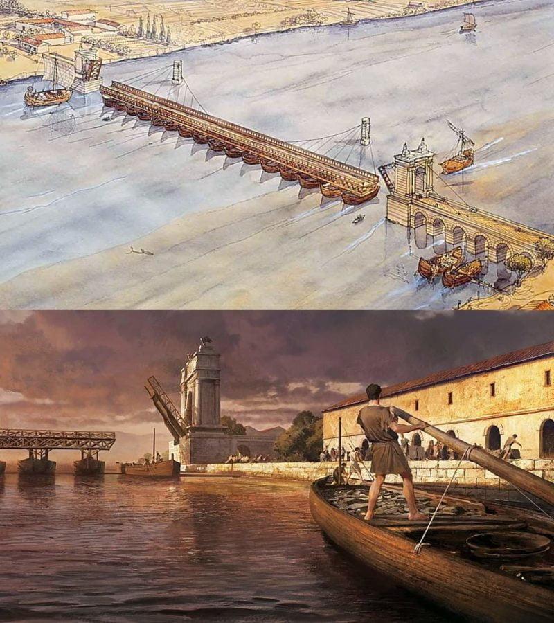 Rekonstrukcja mostu w Arelate