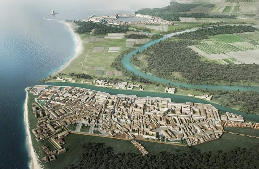 Reconstruction of Ostia Antica and Portus