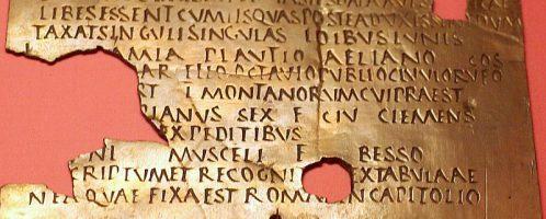 Rzymski dyplom wojskowy