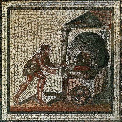 Mozaika ukazująca wypiekanie chleba