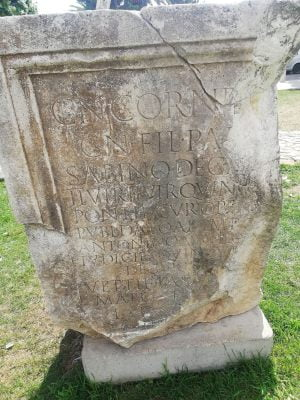 Found the inscription on the forum in Zadar