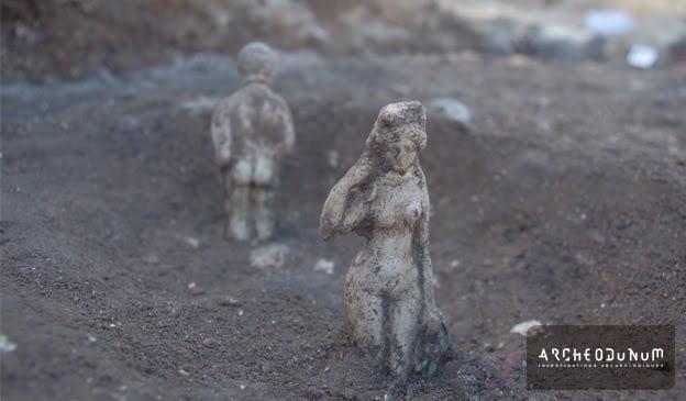 Odnaleziono rzymskie statuetki antyczne we Francji