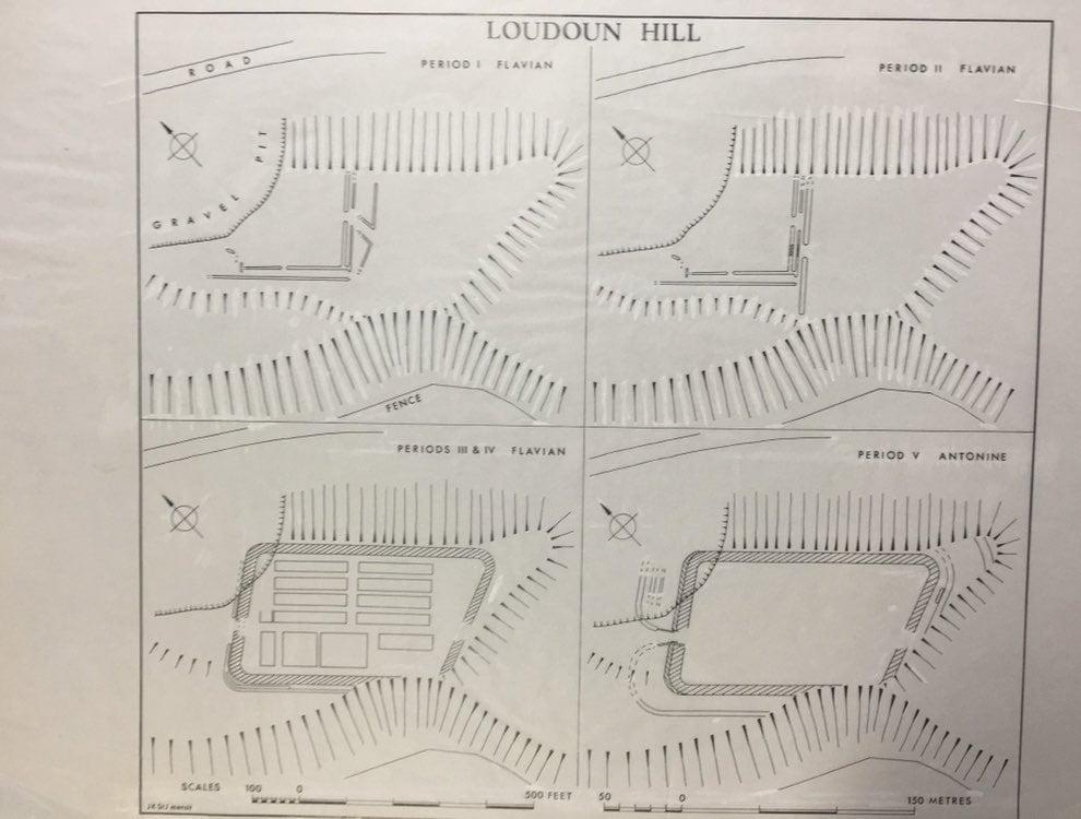 Plan rzymskiego obozu w Loudoun Hill