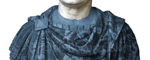 Popiersie Wespazjana z oznaczeniem rekonstrukcji