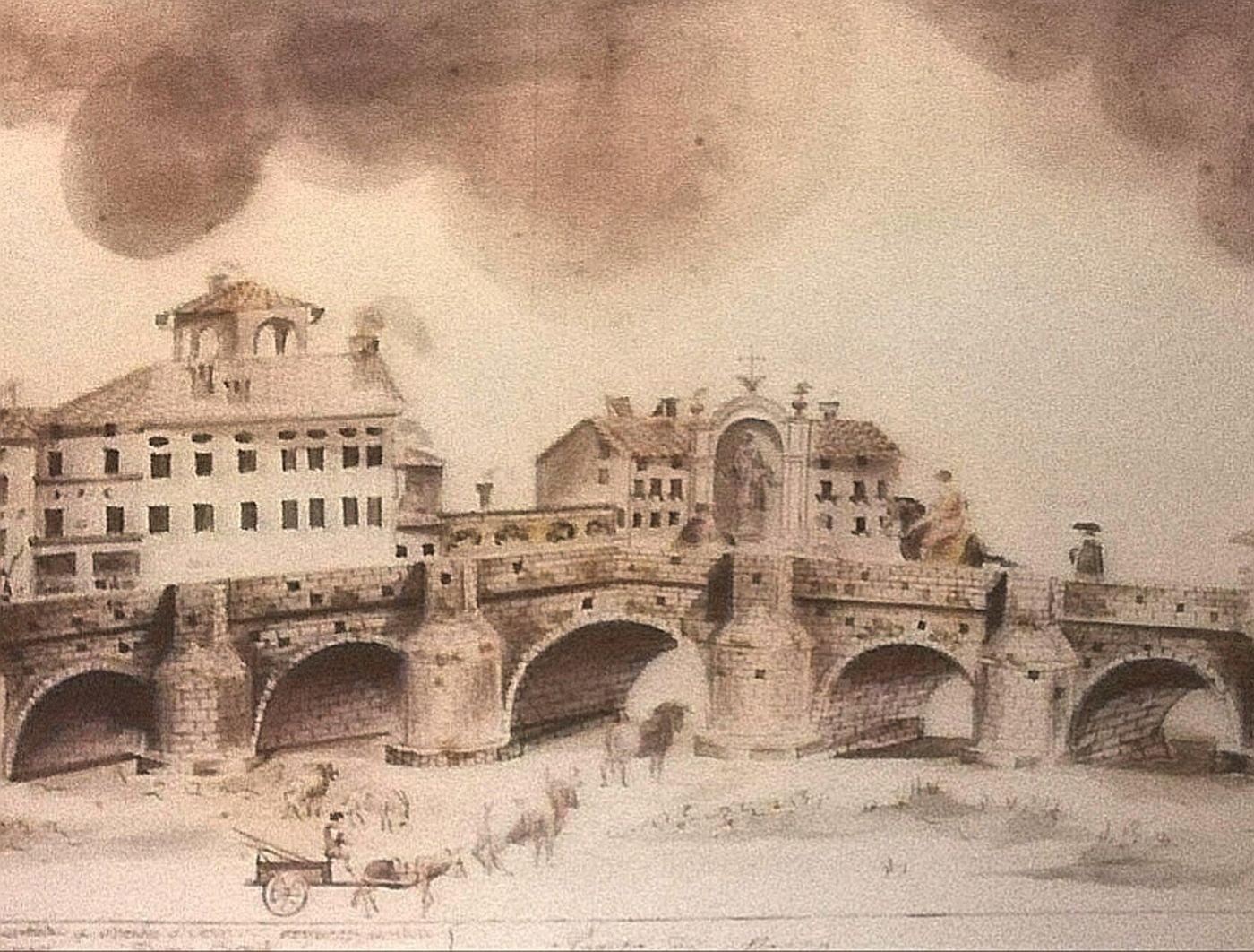 Reconstruction of the Roman bridge in Parma