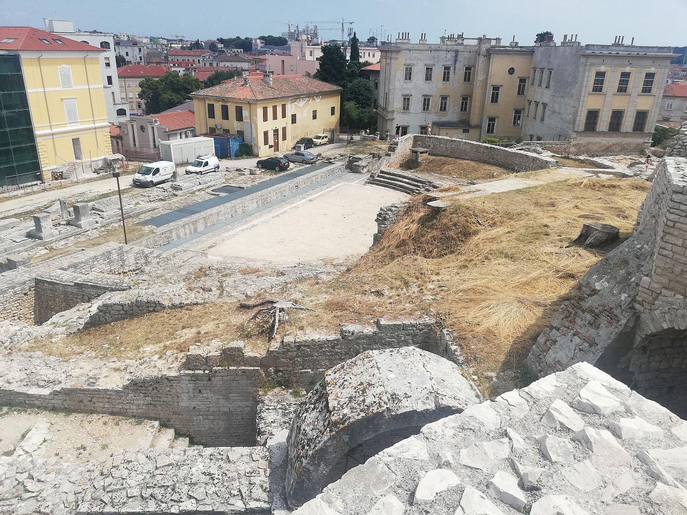 Roman theater in Pula