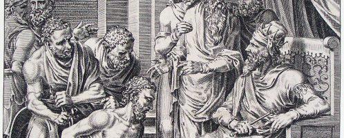 Wydany przez Wizygotów Syagriusz staje przed Chlodwigiem