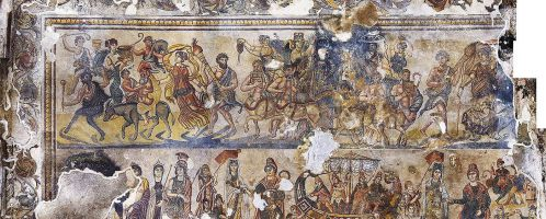 A wonderful mosaic from a Roman villa in Spain