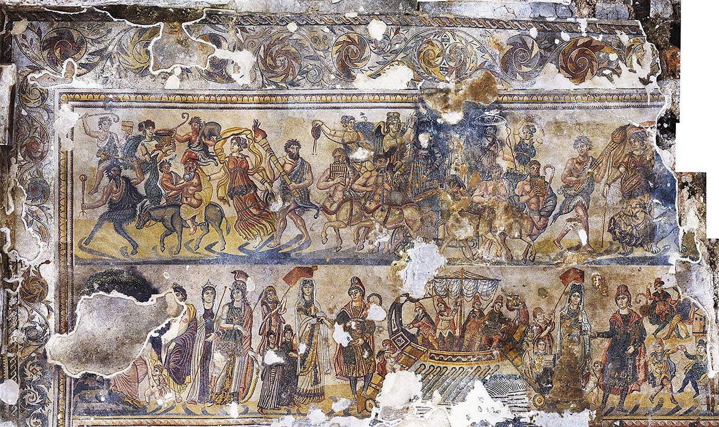 Cudowna mozaika z willi rzymskiej w Hiszpanii
