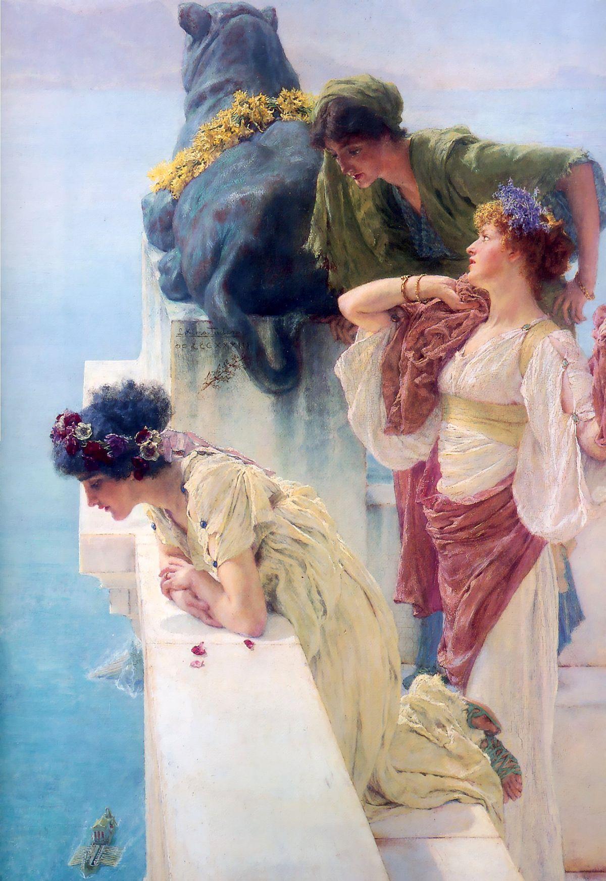 Lawrence Alma Tadema, A Coign for Vantage