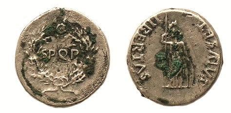 Moneta Windeksa, wybita w 68 roku n.e., w trakcie rebelii.