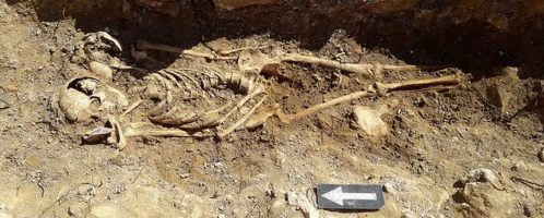 Several human remains and foundations from Roman times were discovered in Lincolnshire