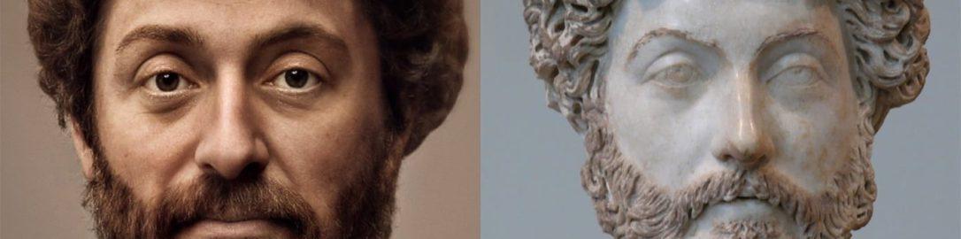 Reconstruction of the image of Marcus Aurelius
