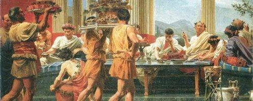 The Symposion Feast, by Anton von Werner (1877)
