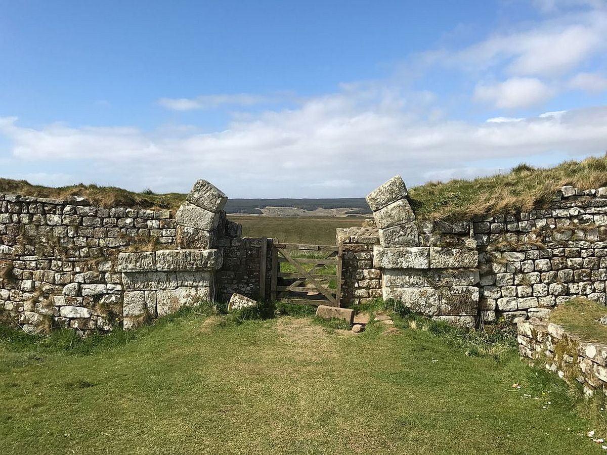 Brama rzymska w pobliżu fortu Housesteads