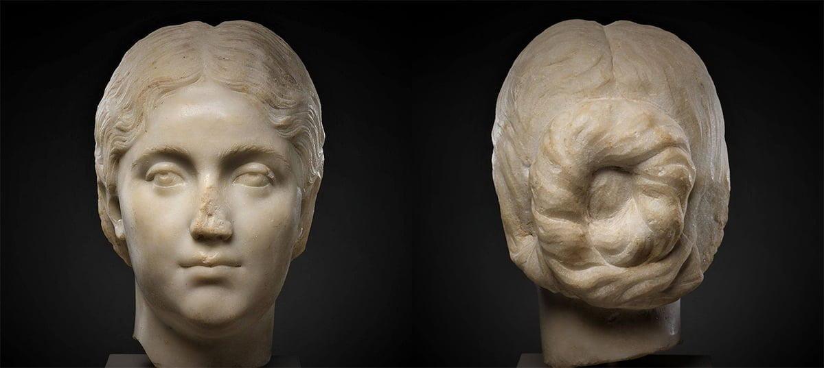 Głowa Rzymianki z czasów dynastii Antoninów