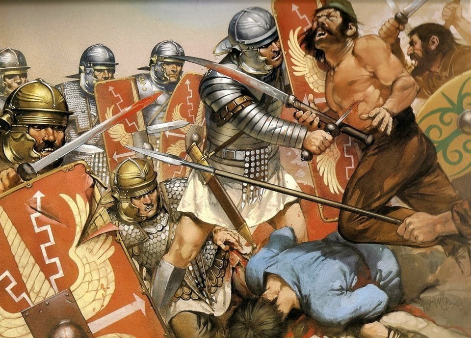 Legionaries during Trajan's war with the Dacians, around 105 CE