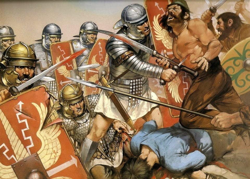 Legioniści podczas wojny Trajana z Dakami, ok. 105 roku n.e.