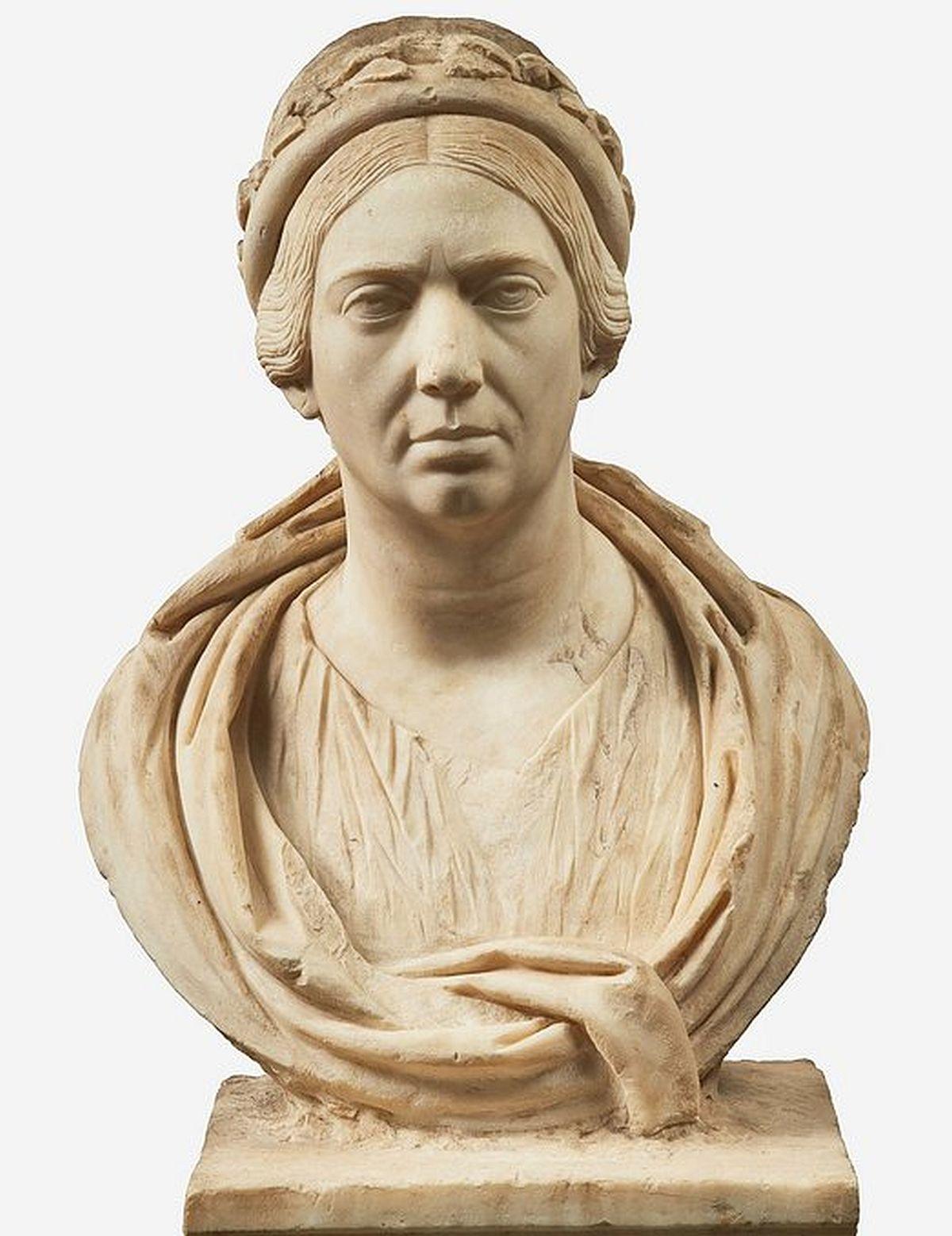 Niezwykle realistyczne rzymskie popiersie kobiety