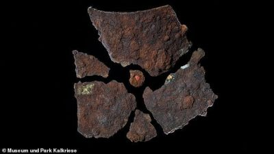 Remains of Roman armor were discovered in Teutoburg Forest