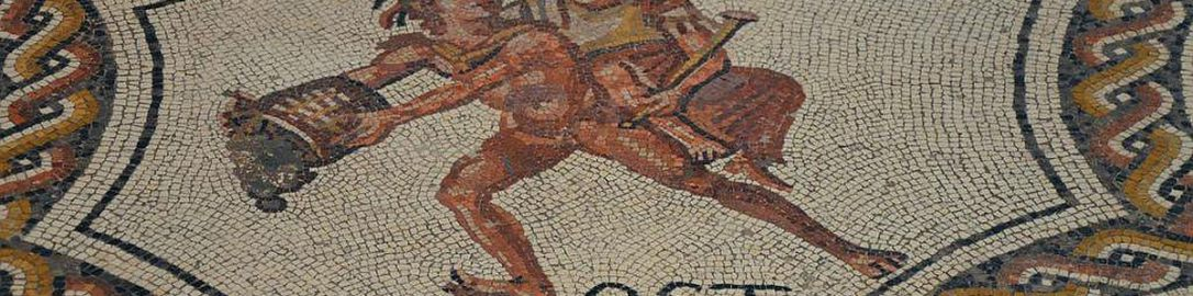 Personification of October on Roman mosaic