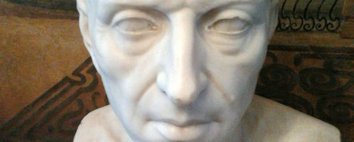 Bust of Cicero from the 19th century. It is in the collection of the Myślewicki Palace in Warsaw