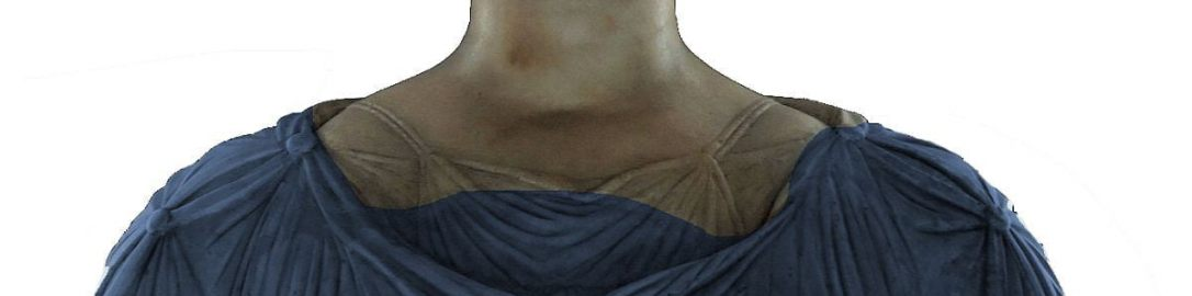 Posąg Antonii z oznaczeniami rekonstrukcji