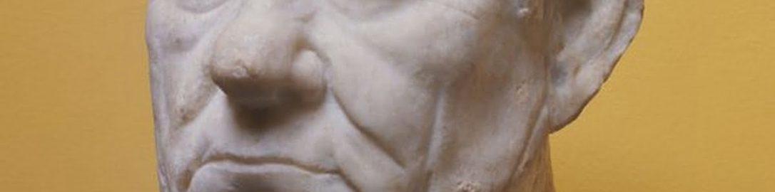Realistyczne rzymskie popiersie dojrzałego mężczyzny