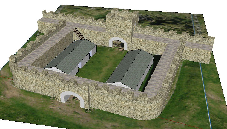 Rekonstrukcja bramy rzymskiej w pobliżu fortu Housesteads