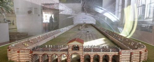 Reconstruction of Roman circus in Colchester