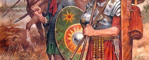 Roman soldiers on the march
