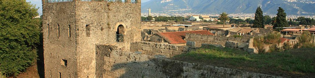 Tower XI and the city wall in Pompeii