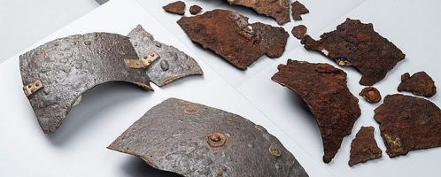 Preserved fragments of Roman armor