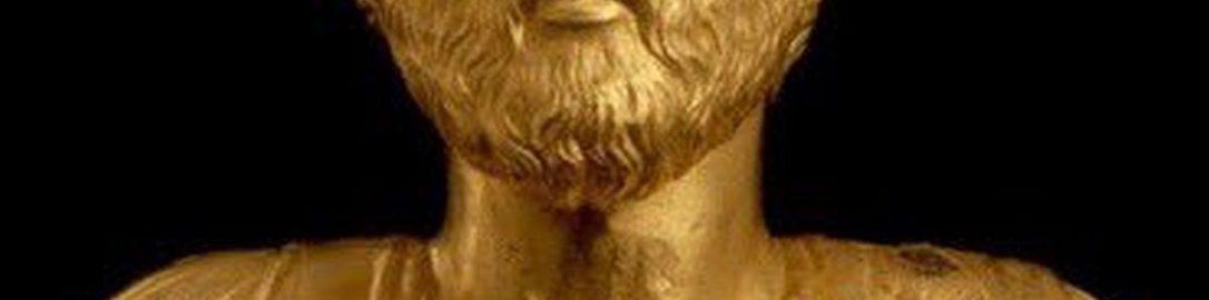 Złote popiersie Marka Aureliusza