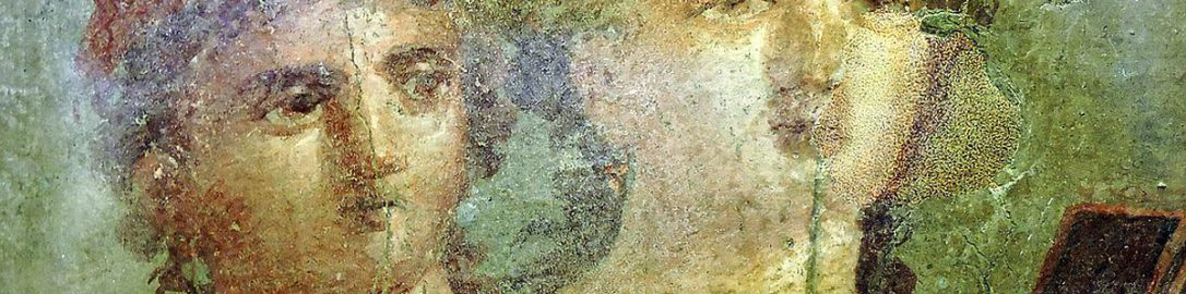Fresco from Pompeii showing girls
