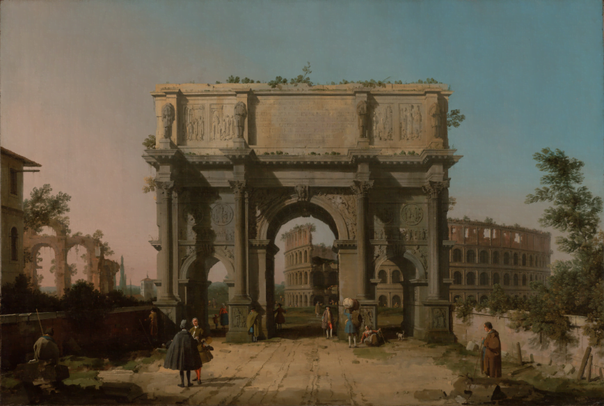 Giovanni Antonio Canal, Arch of Constantine the Great and the Colosseum