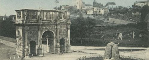 Łuk Konstantyna Wielkiego na pocztówce z początku XX wieku