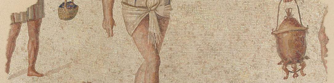 Mozaika rzymska ukazująca przygotowania do uczty