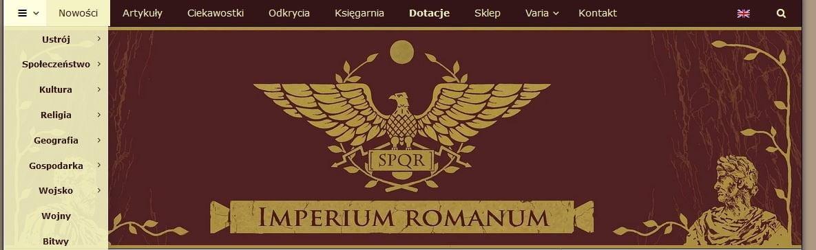 New menu for IMPERIUM ROMANUM