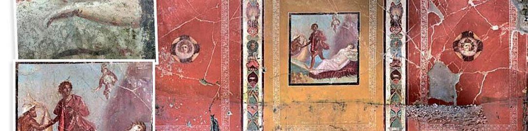 Odkryto fresk ukazujący Tezeusza i Ariadnę w Pompejach